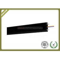 2core FTTH Fiber Optic Cable FRP Strength Member black color with SC Connector