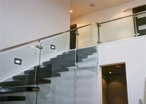 Quality Metal Floating Stairs , Modern Floating Stairs Single Invisible Stringer for sale