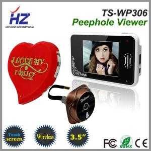 China 3.5''touch screen 2.4GHz wireless door peephole ir night vision camera on sale