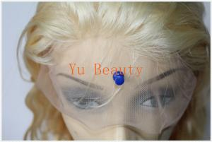 China 613# blonde hair brazilian virgin human hair body wave  full lace wig for women on sale