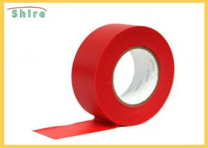 China Red Stucco Masking Tape Uv Resistant Polyethylene Tape Outdoor Use on sale