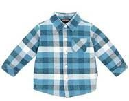 China 100% Cotton Printing Woven children plaid t-shirt for boy with fashionable design on sale
