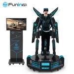 Excited Standing Up VR Flight Simulator Virtual Reality Simulation Rides
