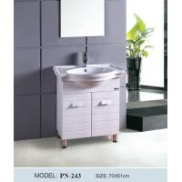 China On sale PVC white vertical standing bathroom vanity/bathroom cabinet on sale