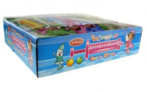 China Multi Color Fruit Flavored Candy Needle Shaped Toy Fruitage Flavor Jelly Candy on sale