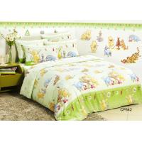 Winnie Pooh Reactive Cotton Kids Bed Sets , Comfortable OEM Bed Lines