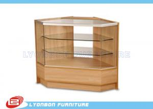 China Durable MDF Glass Wood Display Cabinets / Products Trade Show Display on sale