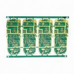 HDI PCBs de múltiples capas, 8 acodan el oro del grueso y de la inmersión del tablero de 1.8m m para el teléfono móvil