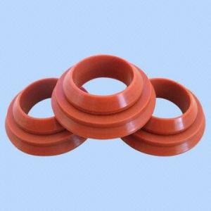 China Soft Flexible High Temp Silicone Gasket , Food Grade Silicone Rubber Gasket on sale
