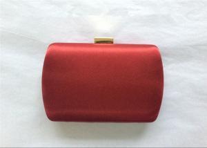 China Elegant Hard Box Satin Clutch Bag Black Velvet Lining For Prom And Wedding on sale