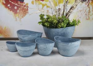 China Indoor Decorative Abstract Flower Pots Plain Eco Friendly Fashion Style on sale