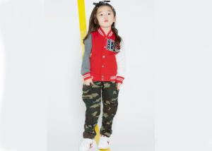 China Spring / Fall Kids Girls Clothes Children'S Baseball Jackets Fashion Rubber Print on sale