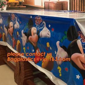 China vinyl tablecloth roll, vinyl peva printed table cloth in roll, 0.08mm to 0.25mm PVC/PEVA Double Side Printed wholesale t on sale