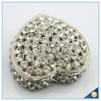 Wholesale Big Jewelry Box Diamond Hollow-out Heart Shape Trinket Box SCJ711-2