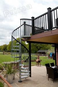 ... Quality High Quality Prefabricated Spiral Staircase / Outdoor Metal Spiral  Stairs For Sale ...