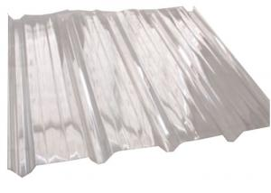 China Transparent Corrugated Polycarbonate Sheets Plastic Roofing Sheet Light Weight on sale