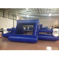 Outdoor Funny Inflatable Football Games Digital Printing dark blue customized inflatable football area
