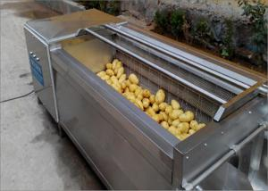 China Durable Wheels Potato Washing Machine Continuous Cleaning For Hotels Easy To Move on sale
