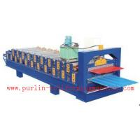 Standing Seam Roof Panel Roll Forming Machine / Corrugated Rolling Forming Line