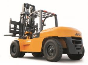 China Large Capacity Counterbalance Forklifts , 10 Ton JAC Forklift China  , Heavy Machinery Forklift , Diesel Forklift on sale