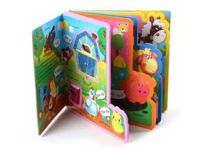 China EVA Plastic Children Baby Bath Custom Book Printing for Baby Early Education on sale