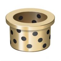 Plain Flanged Bushings Oilless Bearing Washers And Plates For Hot Conveyors Application