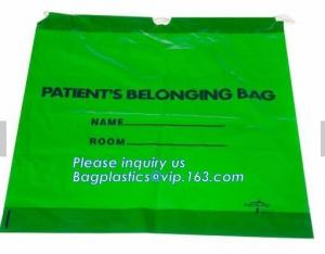 China Biodegradable LDPE material hotel laundry garment poly bag on roll,Packaging poly laundry bag with cotton string rope ha on sale