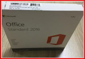 China 100% Activation Microsoft Office 2016 Professional Retail Standard With DVD Media on sale