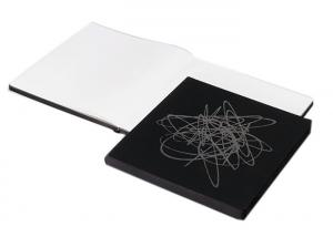 China Black Color Custom Printed Notebooks Square Shape A4 / A5 / A6 Size Available on sale