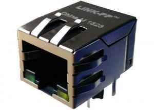 China Rj45 Magnetic Connector 1840434-4 Gigabit Jack Shielded With Leds 1840434-6 on sale