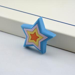 China Lovely stars shape plastic knob, furniture knobs for kids,Soft Plastic knobs for kids on sale