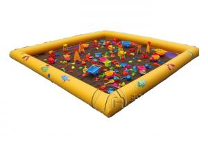 China Customize Commercial Inflatable Water Pool Inflatable Pool Floats With Soft Play Sands on sale