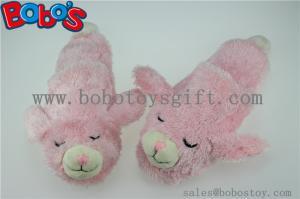 China Microwave Heated Slipper Plush Stuffed Rabbit Women Comfort Shoes on sale