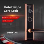 Stainless Steel Plate RFID Hotel Lock , High End IC Card Electronic Door Locks