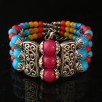 Bracelete da prata de Tibet