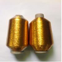 China MX TYPE METALLIC YARN FOR EMBROIDERY USE, GOLDEN COLOR on sale
