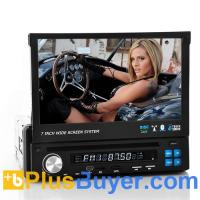 Road Knight - Single DIN Car DVD Player (7 Inch Flip Out Screen, GPS, DVB-T)
