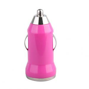 China Hot Pink Mini USB Car charger Adapter For Iphone Ipad Samsung Galaxy Htc Blackberry on sale