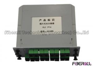 China BPON Fiber Optic Splitter Box , Fiber PLC Splitter Module With SC APC 0.9mm Fiber Pigtail on sale