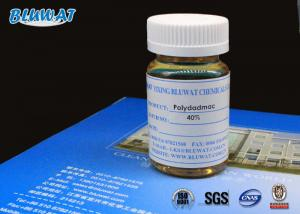 China 40% Content Low Viscostiy PolyDADMAC Organic Coagulant Waste Purifying Chemicals on sale