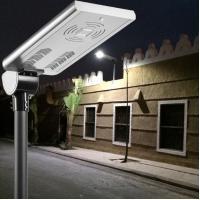 motion sensor all in one solar street light, material AL, all in one intergated solar led street lights
