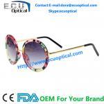 China 2014 designer women alloy round frames sun glasses lovely fashion sunglasses china Supplier factory wholesale