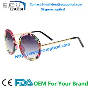 China 2014 designer women alloy round frames sun glasses lovely fashion sunglasses china Supplier factory on sale