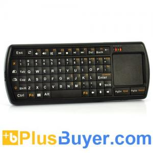 China Mini 2.4GHz Wireless Keyboard with Touch Pad, 71 Backlit Keys, LED Flashlight on sale