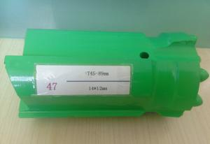 China Ballistic T45 Quarrying Button Drill Bit , Green Threaded Drilling Tools on sale