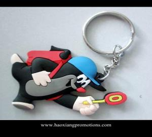 China Custom 3d soft pvc keychain / Soft Rubber Keychains / Silicone Keyring on sale