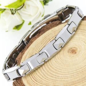 China Les pleins aimants de tungstène argenté façonnent des bracelets pour le cadeau unique, bio bijoux de santé on sale