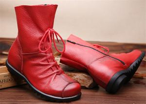 China Hot retros original leather warm womens Martin boots for autumn and winter on sale