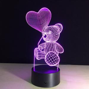 China Chinese Supplier factory price visual illusion light touch panel 3D led night lamp decoration lamp for Christmas gift on sale