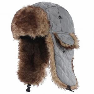 China Mens Fake Trapper Ski Wool Winter Hat For Fingerless Glove Strings Buckle Closure on sale